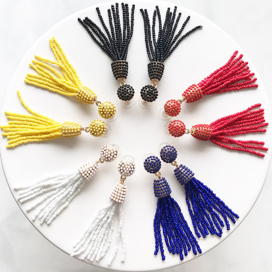 Catalina tassel earrings