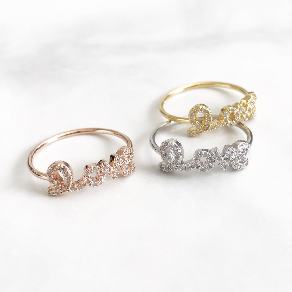 Love stone ring