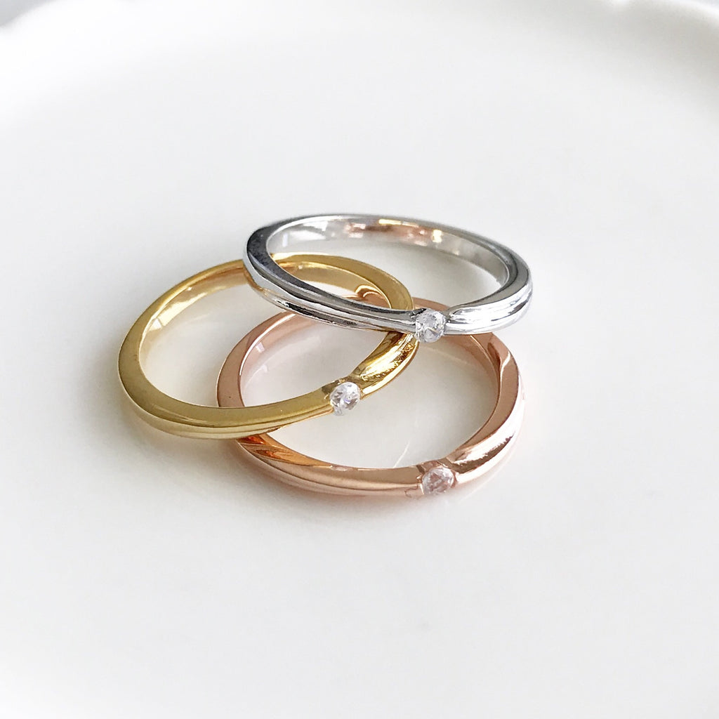 3 band rings set