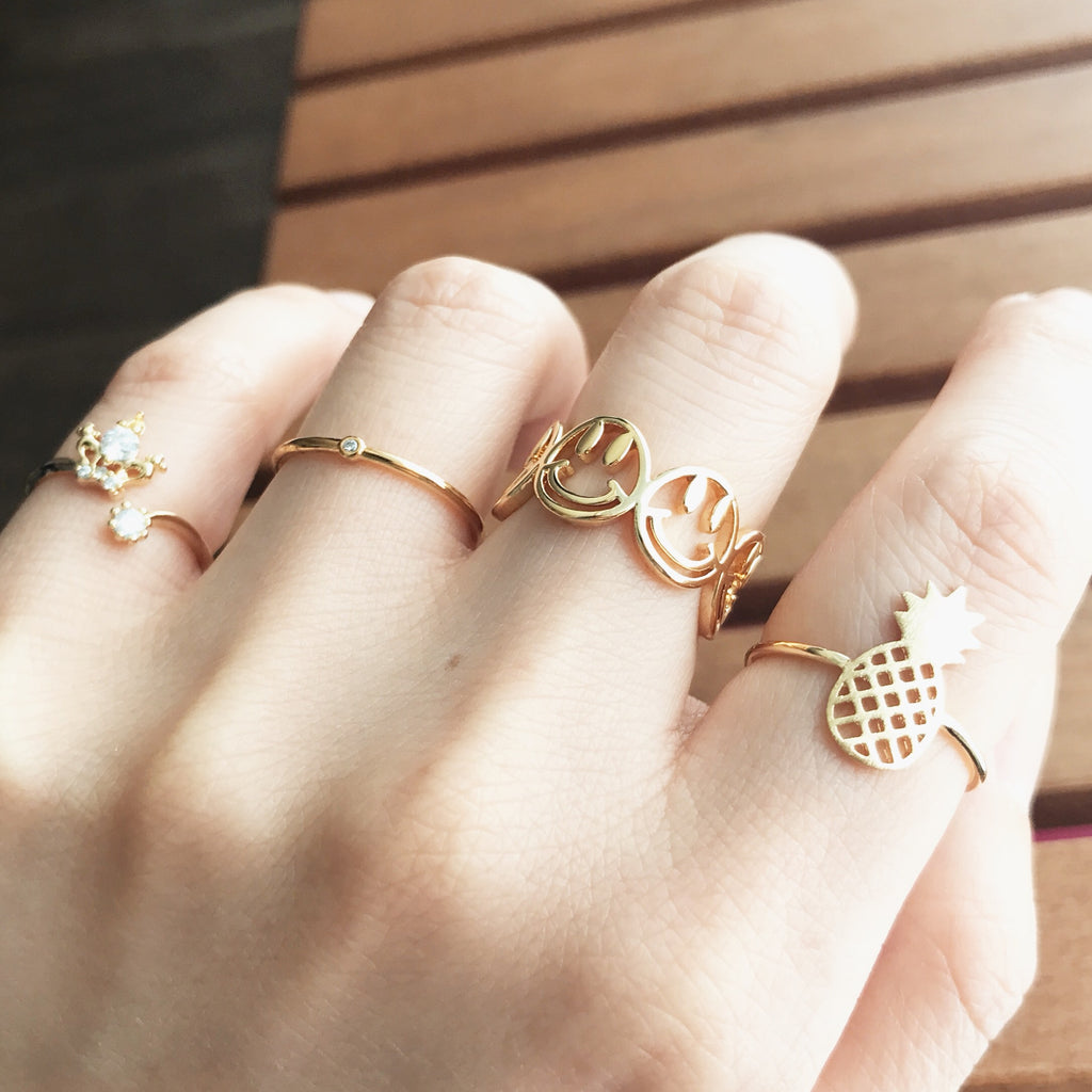 Crown knuckle, midi ring
