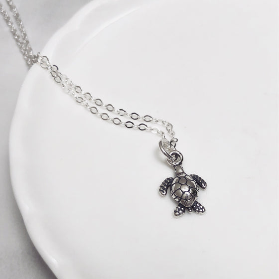 Turtle sterling silver necklace