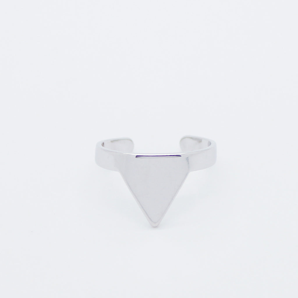 Triangle knuckle, midi ring