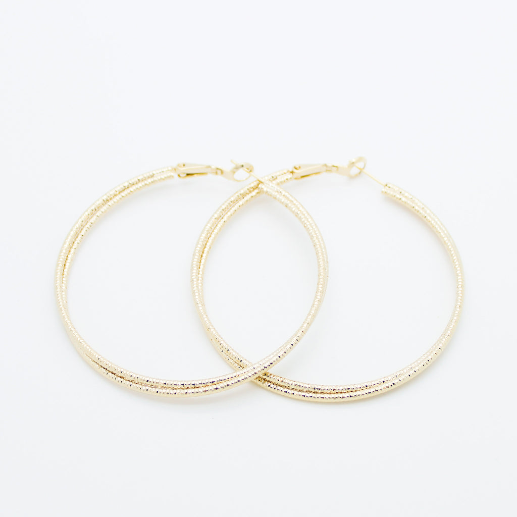 Double wire hoop earrings