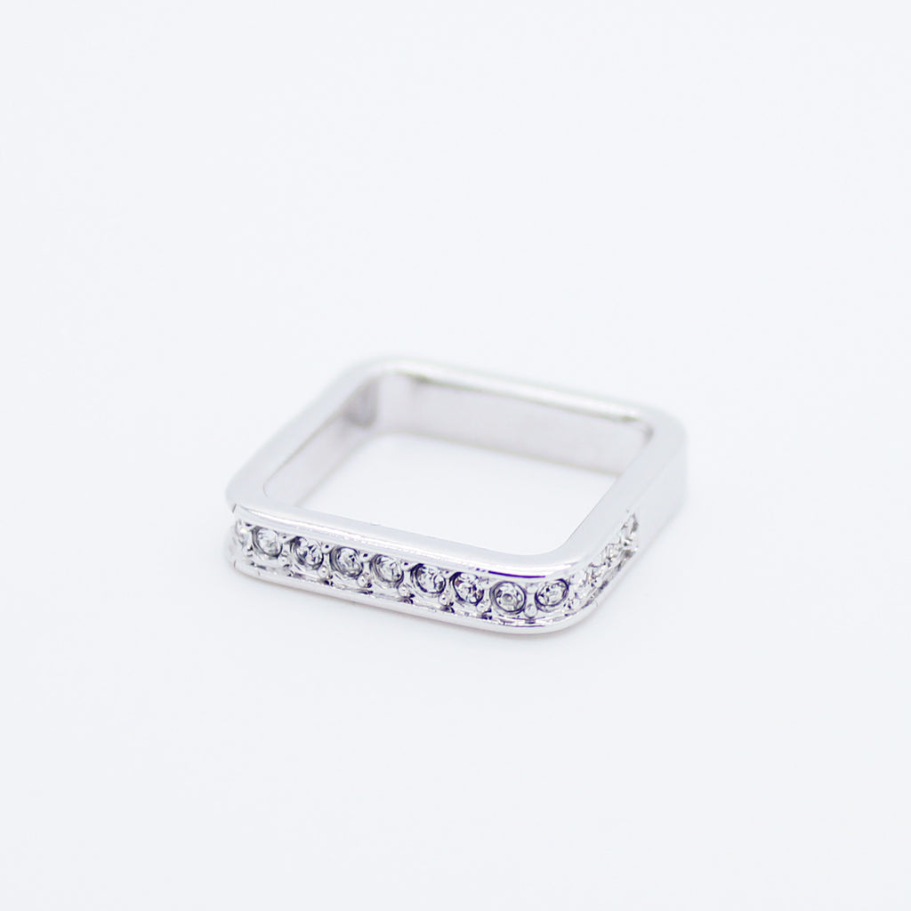 Square knuckle, midi ring