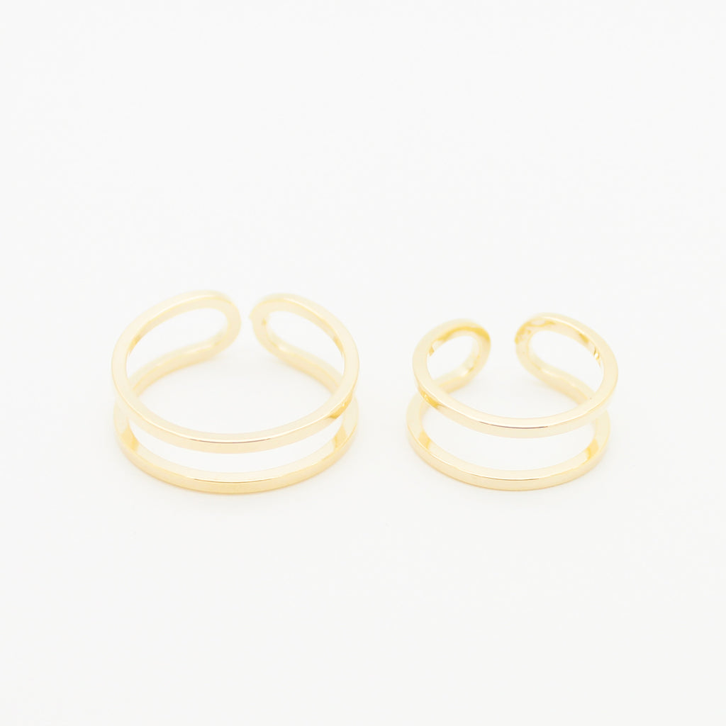 Double wire rings set