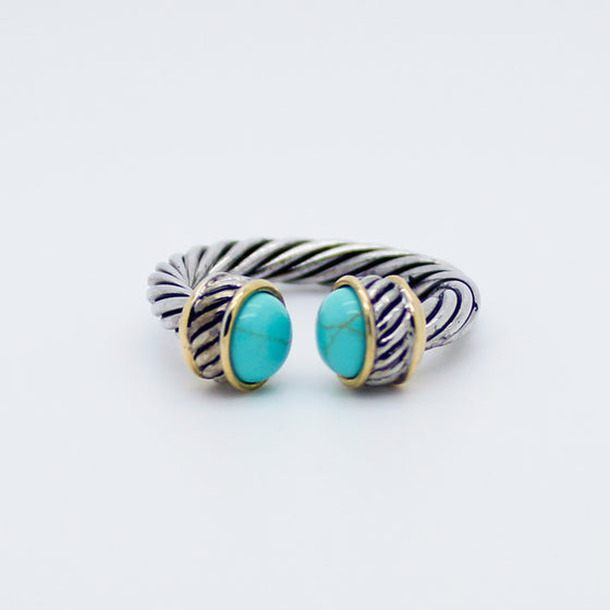 Delicate twisted band ring
