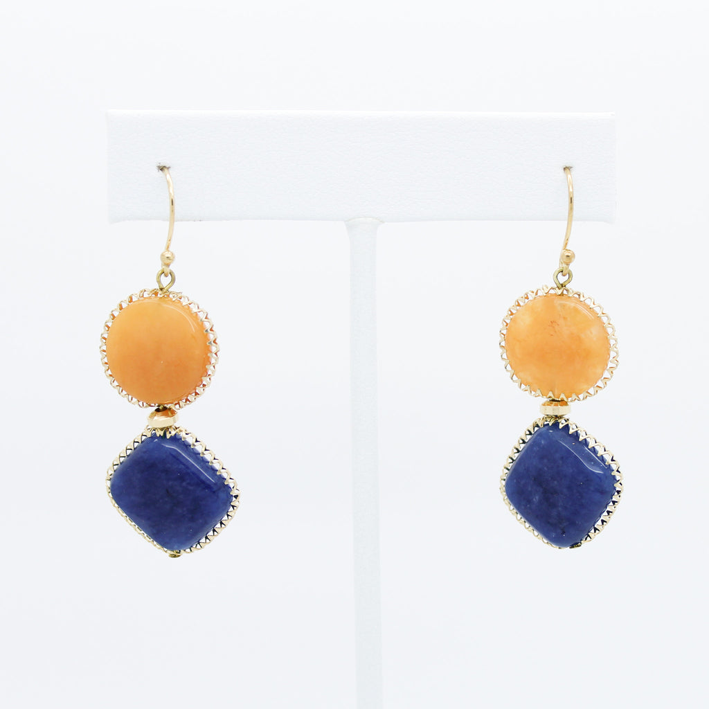 Bold stone earrings