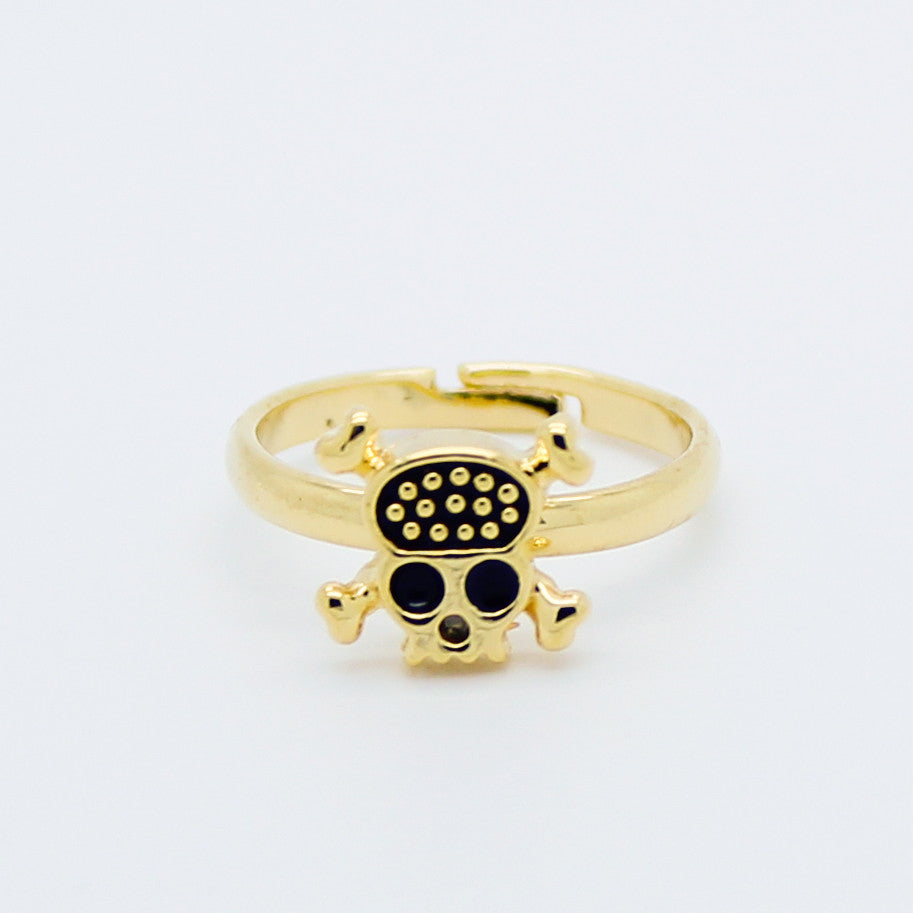 Skull knuckle, midi ring