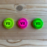 Fluorescent Badges (set of 3)