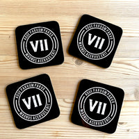 VII drinks coaster (set of 4)