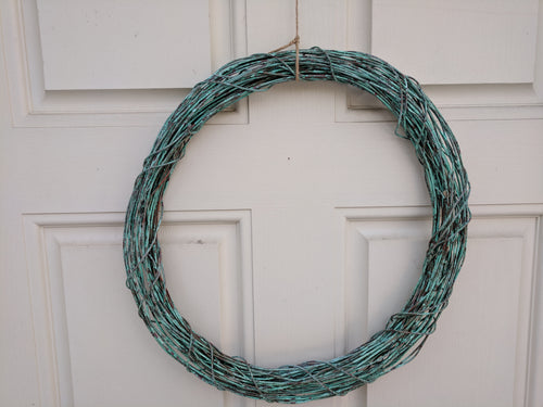 patina copper wreath