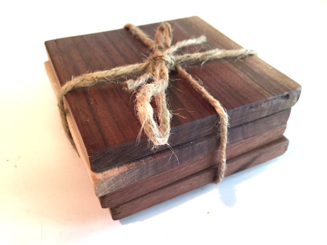 Black Walnut Coaster Set