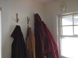 wooden coat hooks found on the Appalachian Trail