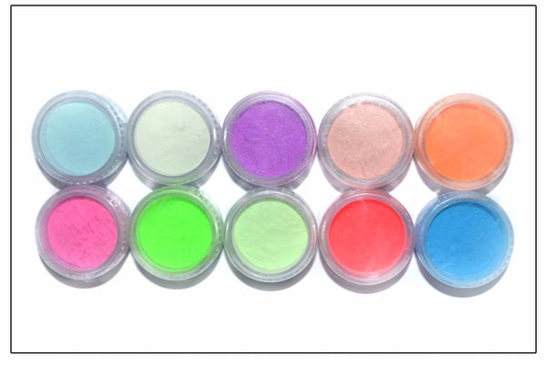 Styled-to-style™ Glowing Neon Nail Pigments (Box of 10)