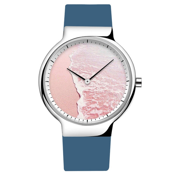 Islander Pink Beach Minimalistic Quartz Japanese Movement Watch