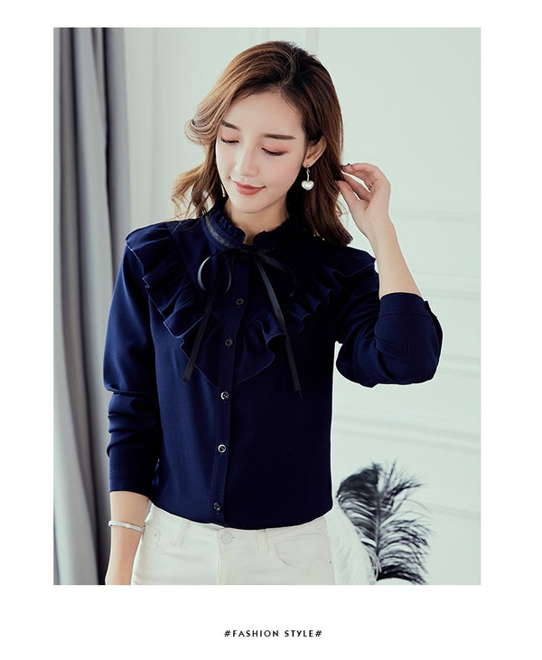 Korean Ruffles-to-style Blouse