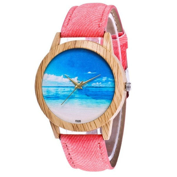 Islander Beach Minimalistic Cowboy Cloth Strap Watch