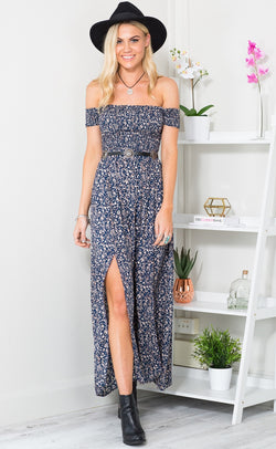 Split-to-style Bohemian  Maxi Dress