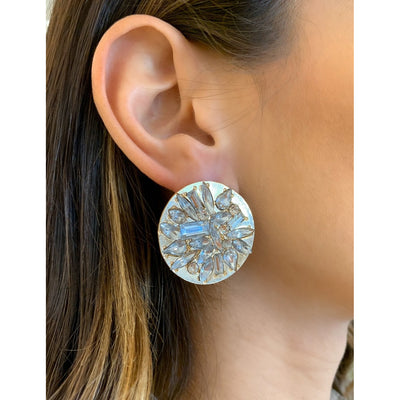 Deja Deco Disc Earrings