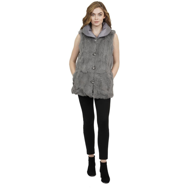 Jt Grey Reversible Vest