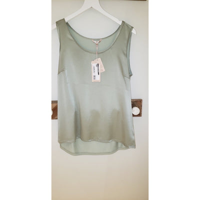 T Shirt slv/liss silk Olive