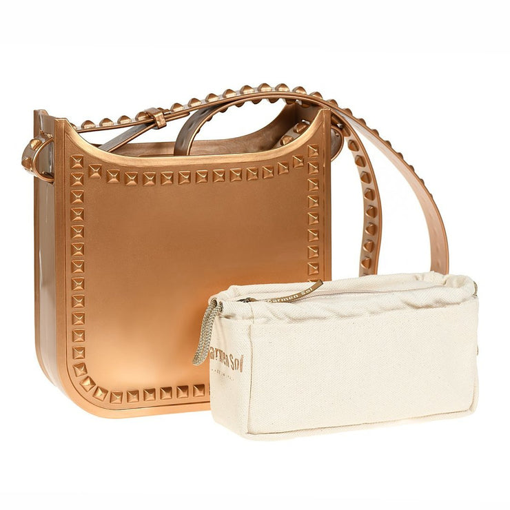 Toni Metallic Jelly Mid Crossbody