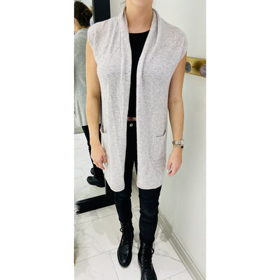 Cashmere Long Sweater Vest
