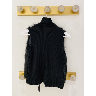 Black Sleeveless Shirt Vest