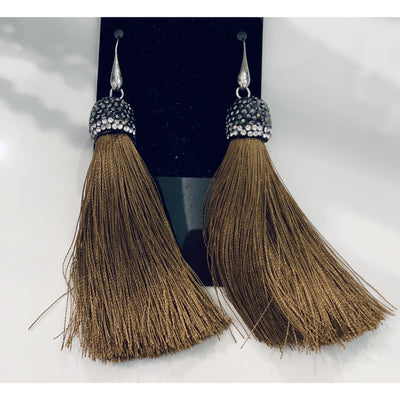 Fringe Camel Earrings