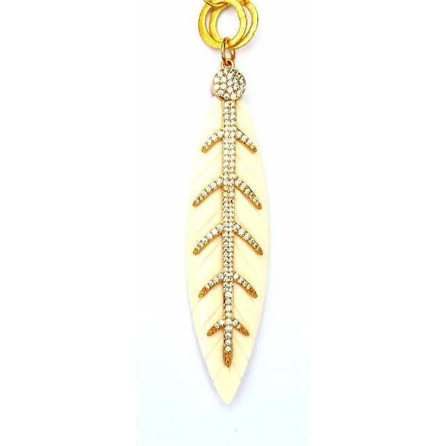 Golden Feather Pendent
