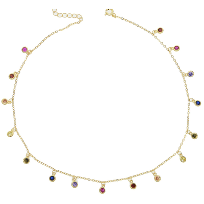 JT- Rainbow Gem Drop Necklace
