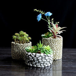 Cement stone multi-meat flower pots decorate