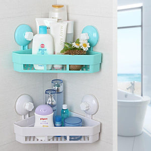 Creaitve New Arrival 4 Colors Suction Wall Corner Storage Shelves For Small Goods