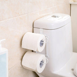 Bathroom Toilet Seat Roll Paper Holder Hanging Organizer 2 Layers
