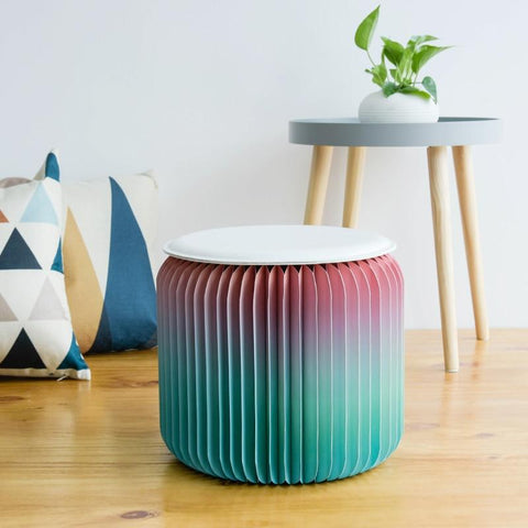 Multi-Color Stool Folding Chair-Fashion Paper Design