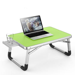 Laptop Desk Bed Small Table Lazy Table Student Study Desk Folding with Drawer Anti-slip Cup Slot Computer Desks Office Furniture