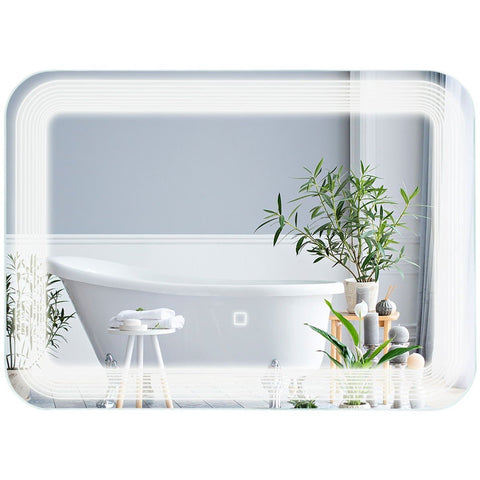 LED  Vanity Wall-Mount Mirror with Touch Button
