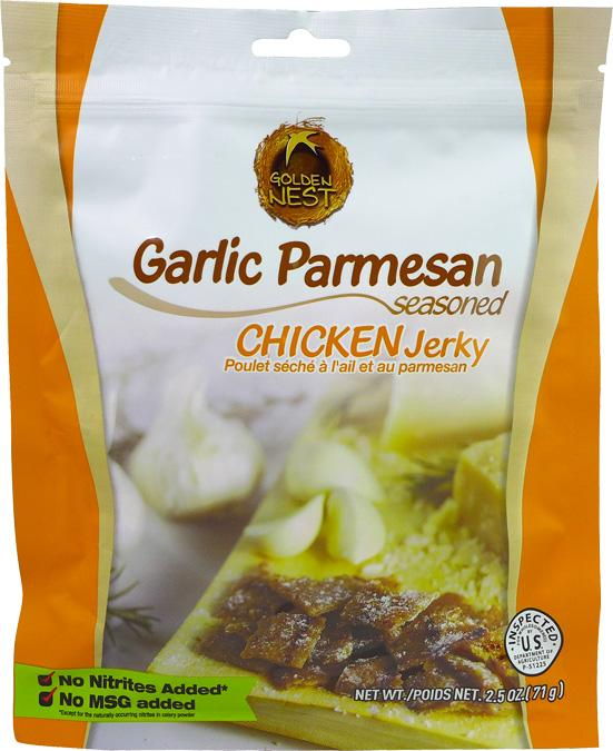 All-Natural Garlic Parmesan Chicken Jerky