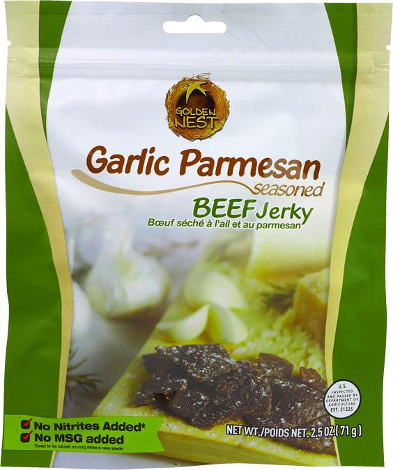 All-Natural Garlic Parmesan Beef Jerky