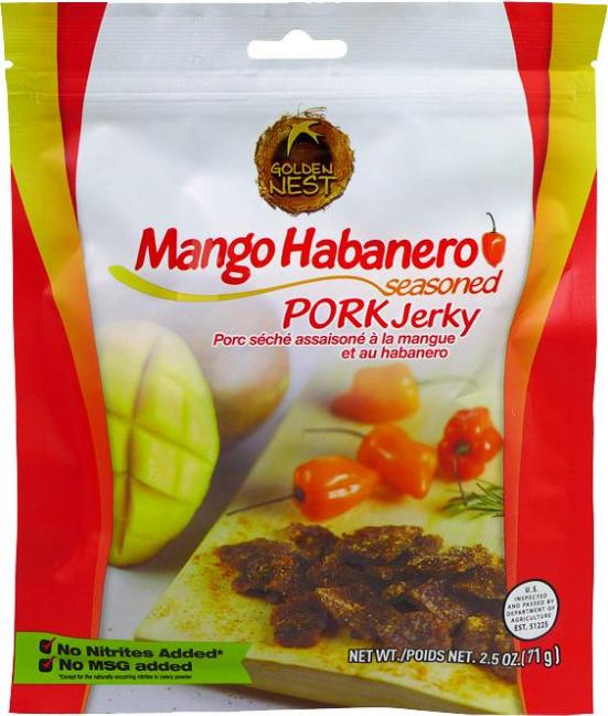 All-Natural Mango Habanero Pork Jerky