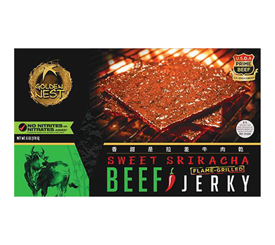 Honey Sriracha Grilled Beef Jerky Snacks - Box