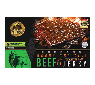 Honey Teriyaki Grilled Beef Jerky Snacks - Box