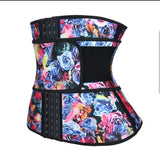 Floral Hooks Latex Waist Trainers M