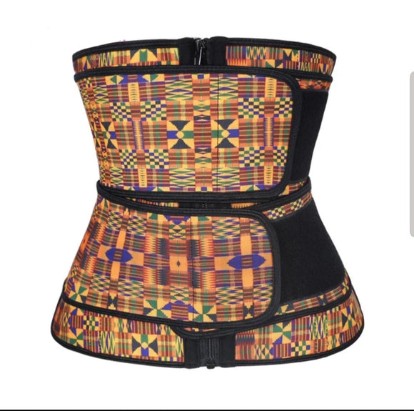 Geometric pattern Hooks Latex Waist Trainers Size S
