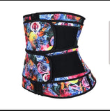 Rose Zipped Latex Waist Trainers Size: S