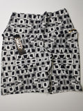 Black and White Squares Scrunch Bum Shorts