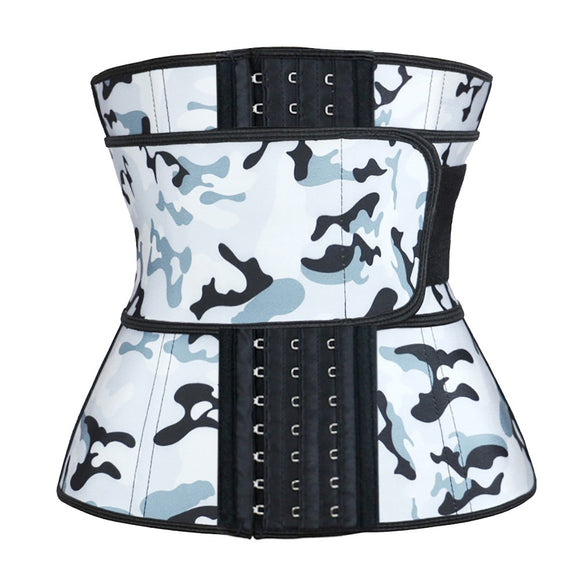 Camouflage blue Hooks Latex Waist Trainers size: XS