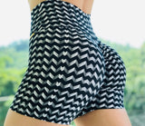 Black and White Scrunch Shorts