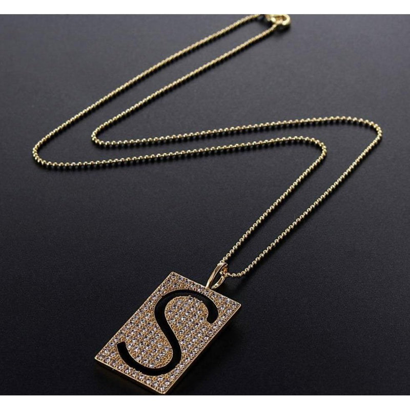 DAZZLE Initial Necklace - rosetose