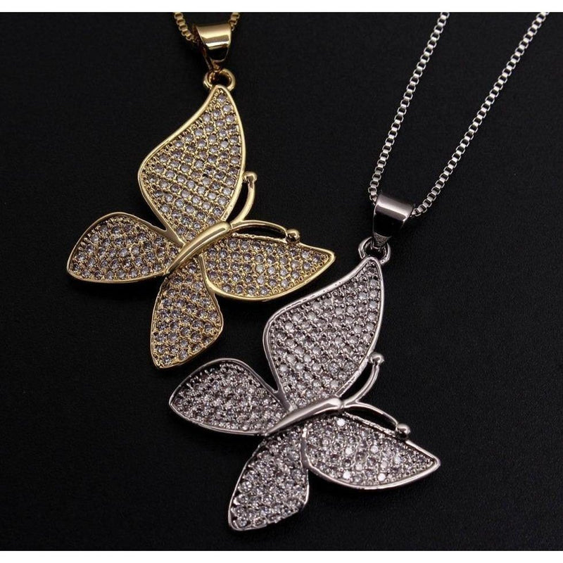 VANESSA Butterfly Necklace - rosetose